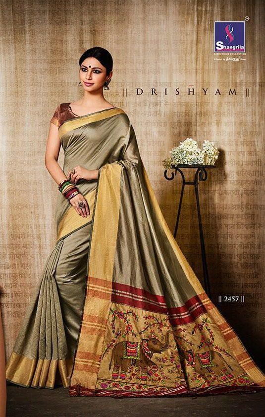 Katki Silk Indian Saree, Wedding Designer Saree