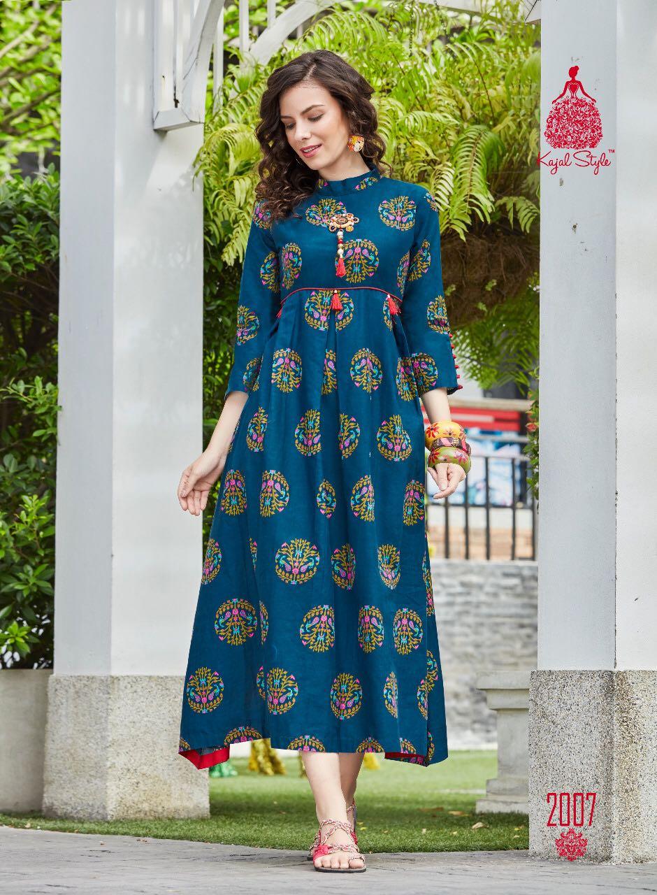 Kundali Bhagya Preeta Style Cotton Kurti in Blue Colour