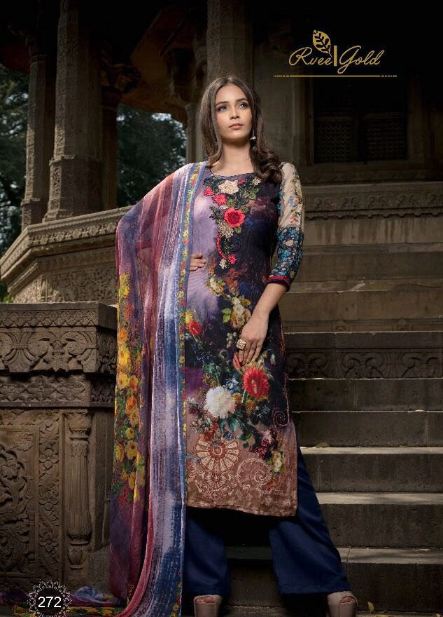 Digital Print Winter Wear Royal Salwar Suits