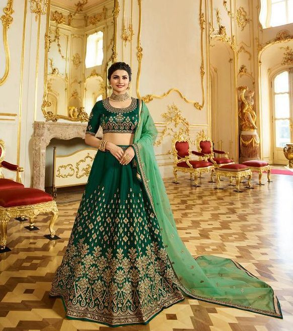 Green Colour Shahi Joda in Bollywood Style