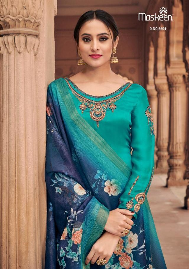 New Fancy Heavy Designer Salwar Suits And With Dupatta In Firoz Colour