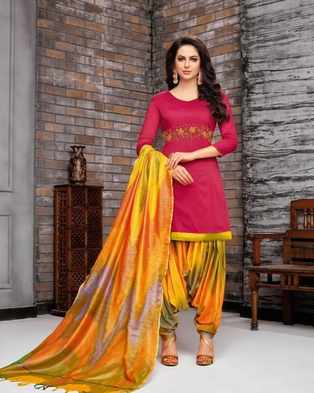 New Fancy Paliala Salwar Suits In Goldenrod Colour