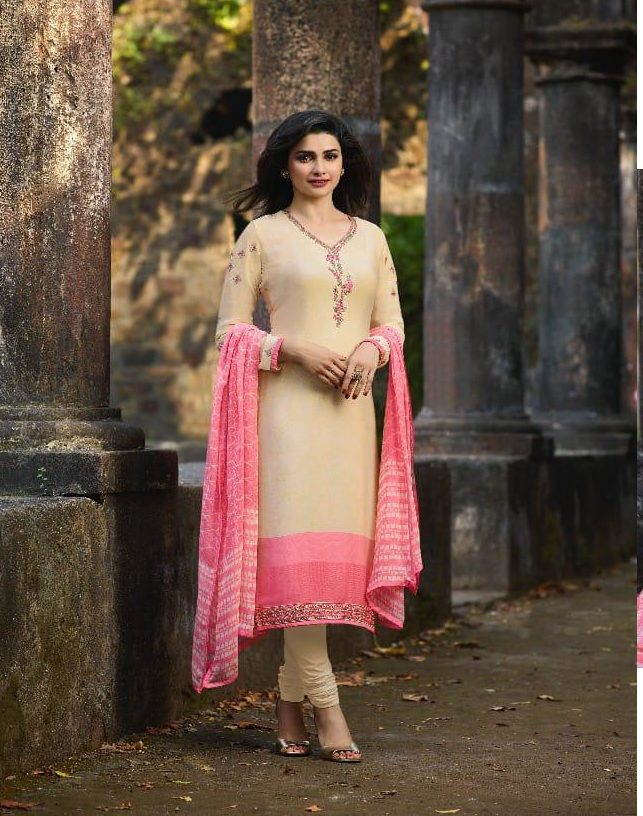 New Fancy Heavy Designer Printed Salwar Suits In Light Colour