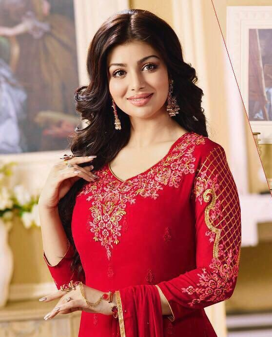 Heavy Embroidered Hot Red Salwar Suits with Dupatta