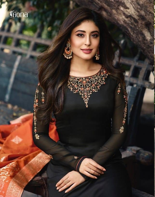 Black Colour Heavy Embroidered Designer Salwar Suits with Heavy Dupatta