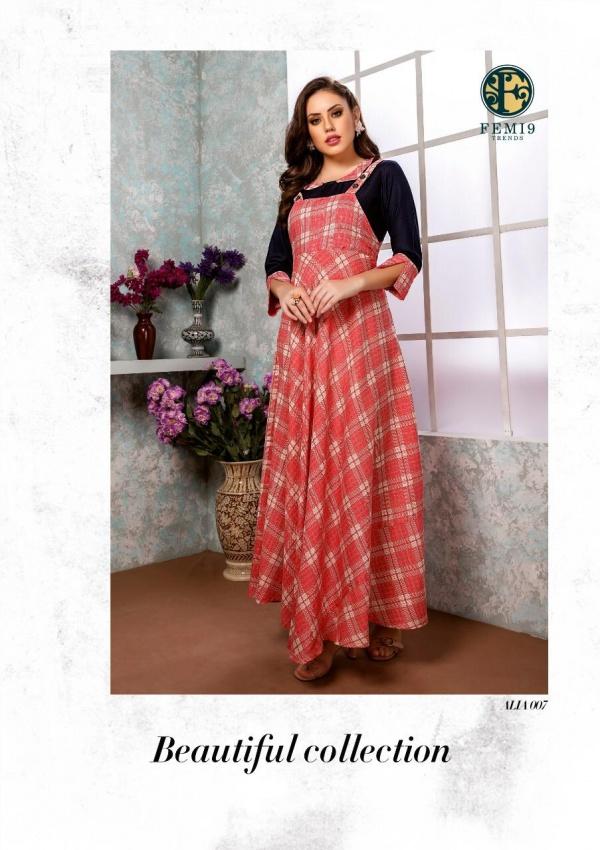 New Fancy Anarkali Style Kurti in Pink Colour