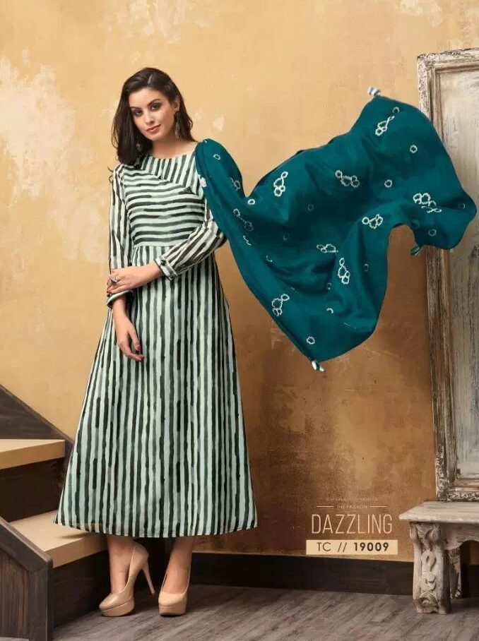 Digital Print New Fashion Stylish Long Kurti in Muslin