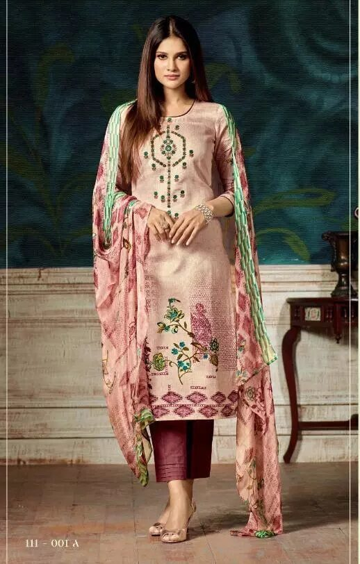 Digital Embroidered Work Royal Salwar Suits with Dupatta