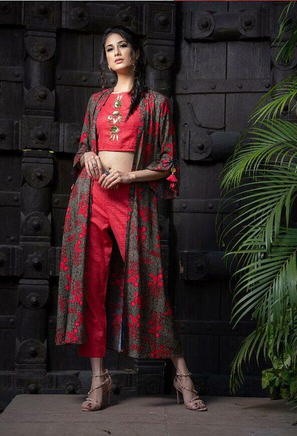 Kundali Bhagya Style Latest Dresses Palazo with Shrug and Blosue