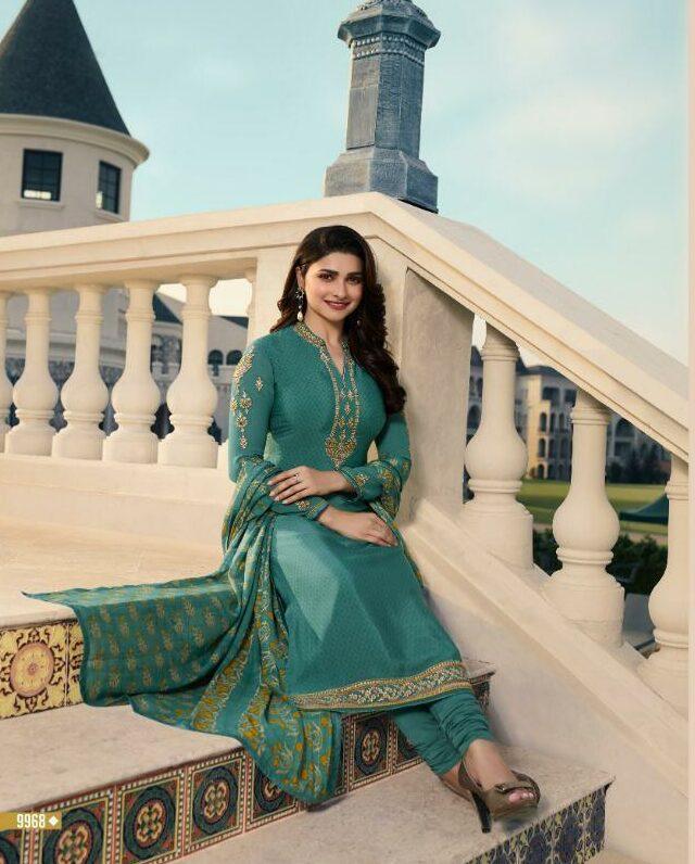 Emerald Green Latest Style Salwar Kameez in Prachi Desai Style