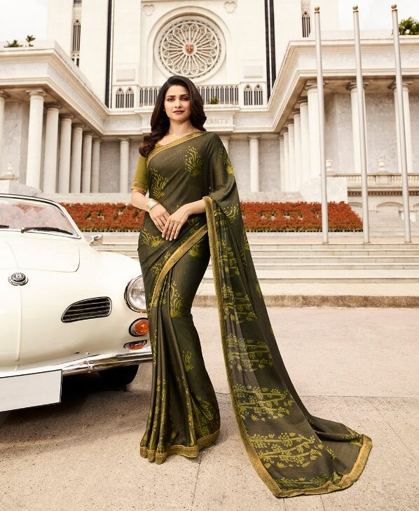 Pure Beauty Prachi Desai Style Royal Designer Saree in Printed Form