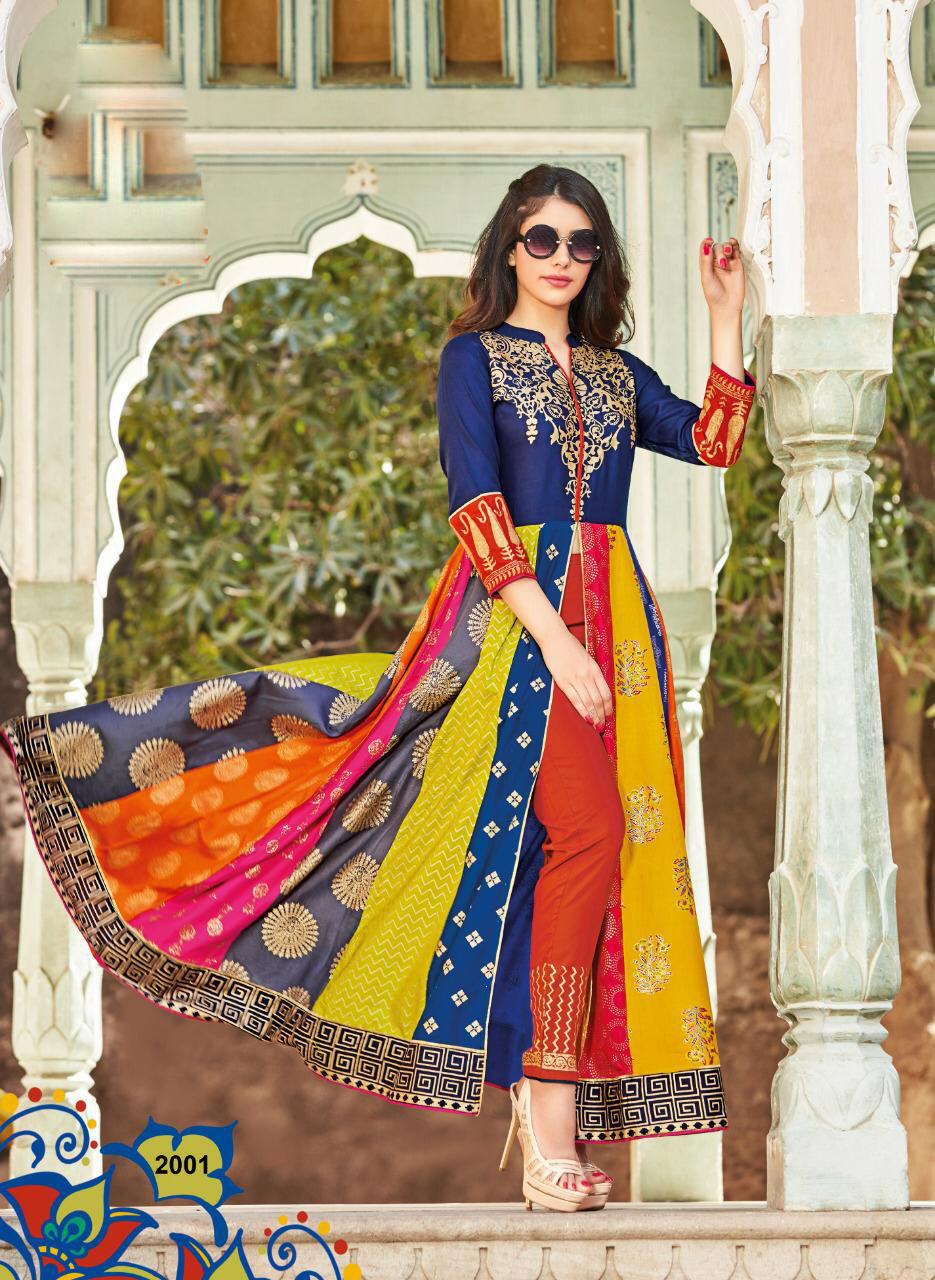 Latest Fashion Digital Print Long Kurta