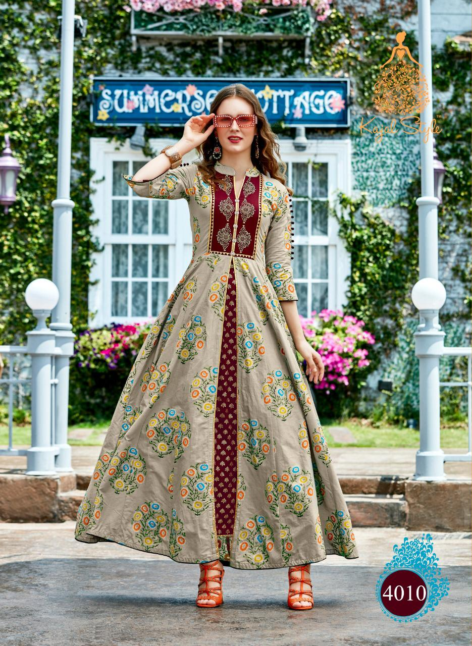 Royal Fashion Style Wear Knee Length Kurti