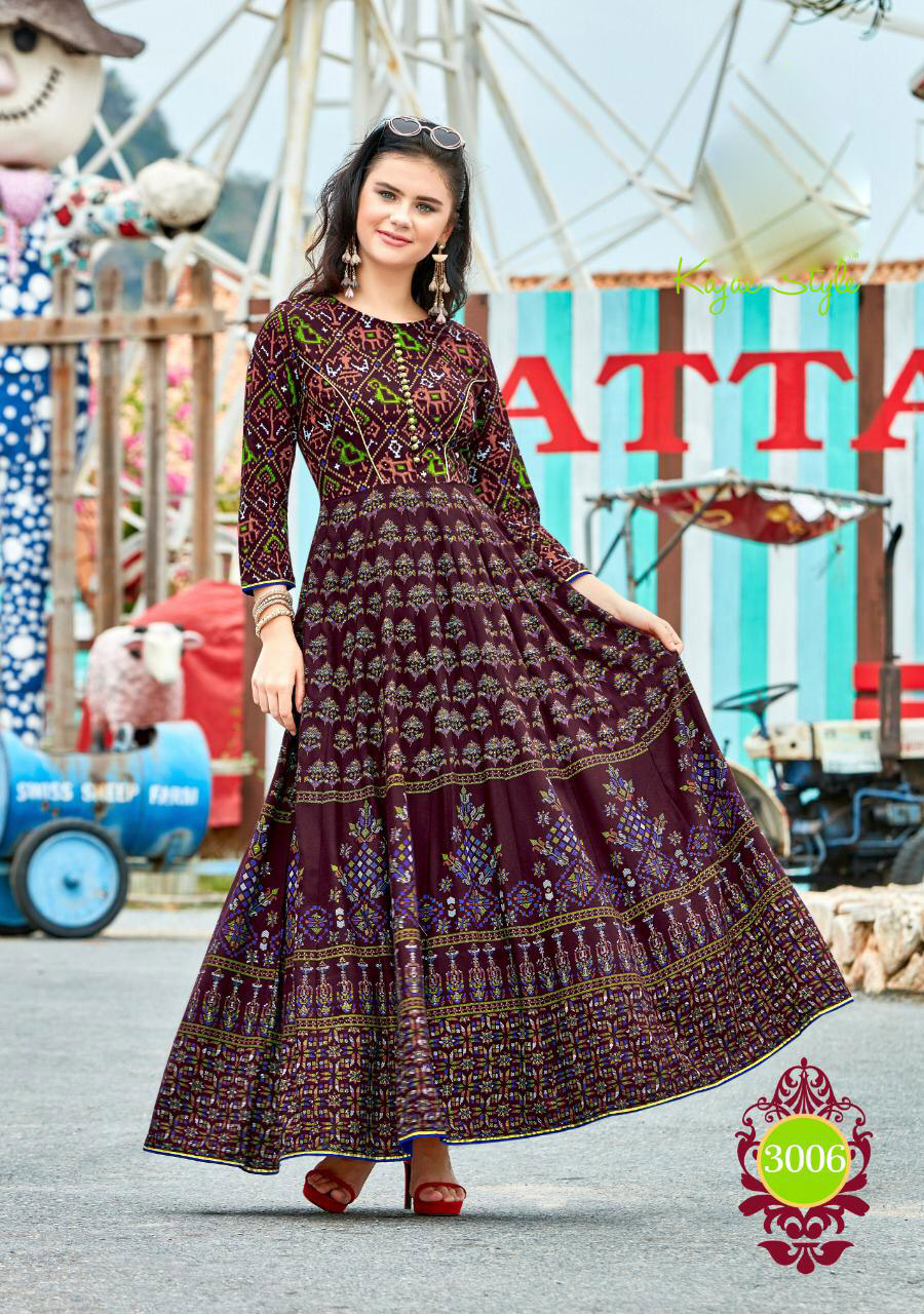 New Fashion Stylish Long Kurta Chocolate Colour