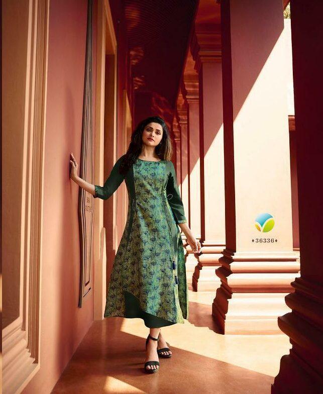 New latest Designer forest green short kurti