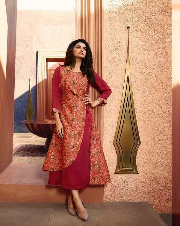Prachi Desai RedOrange Stylish Collection