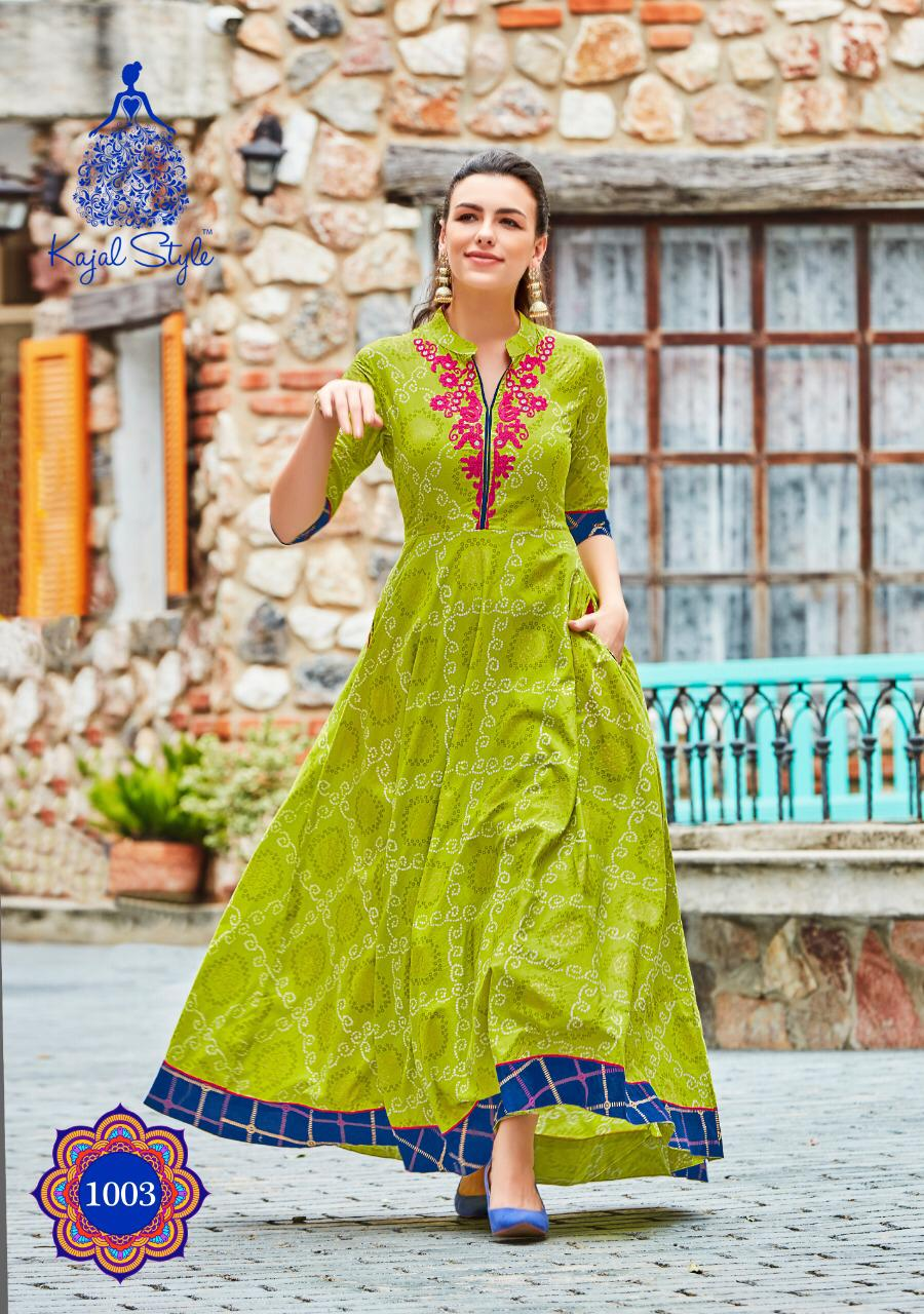 New Life style SHAHi Collection Green colour long Kurta