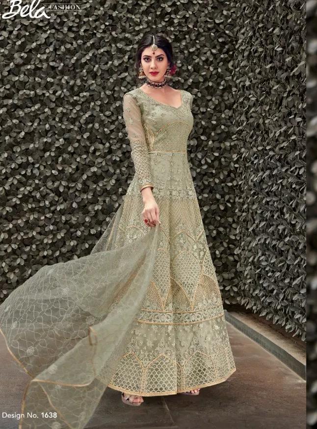 Bela Dress in Naagin 3 White Smoke Colour Wedding Gown