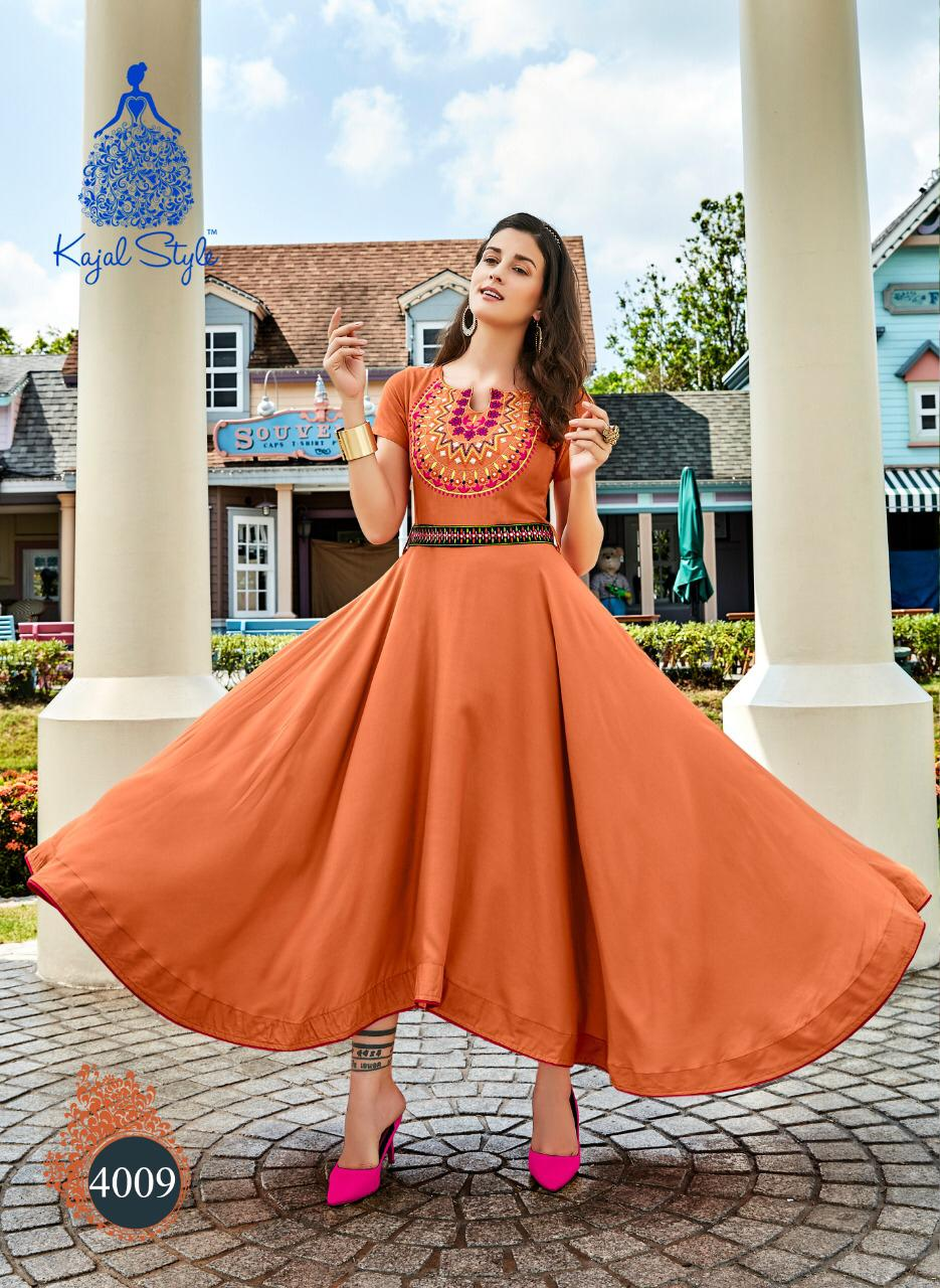 Essence Royal Embroidered Corel Colour Kurta