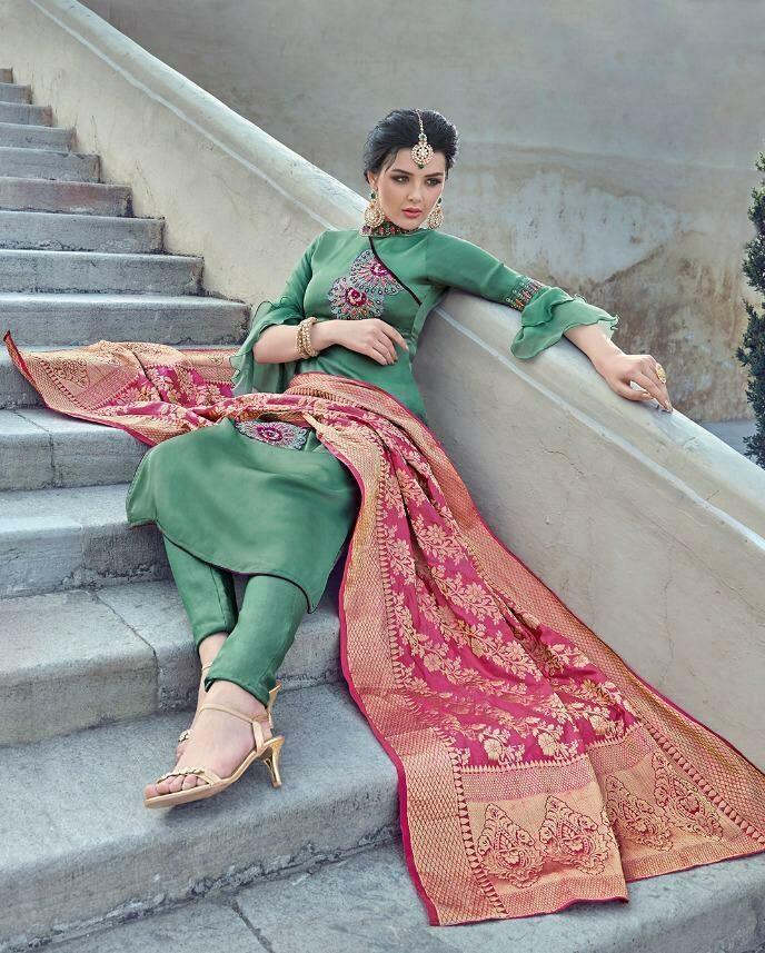 Harleen Royal Designer Maisha Salwar Kameez with Baanarasi Dupatta