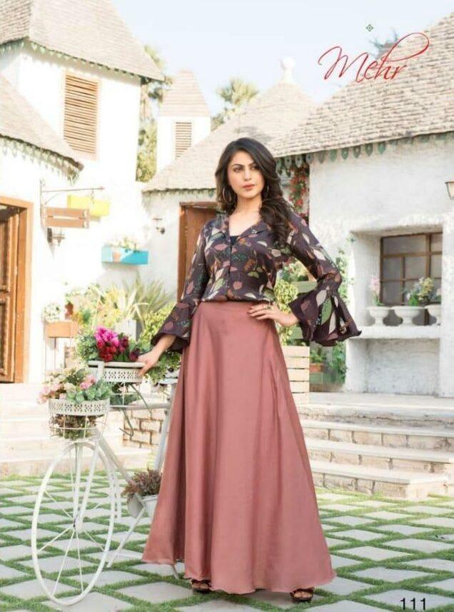Mehar Kajol Dresses Shirt with Wide Bottom