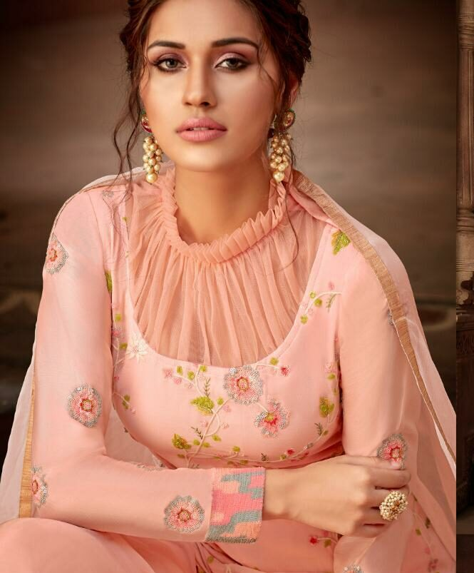 Images of Latest Designer Suits Pink with Price