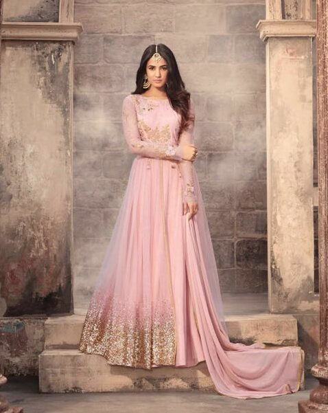 Royal Indian Evening Gowns for Wedding Reception With Price