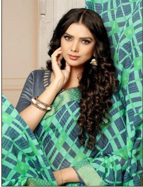 Daily Wear Printed Saree with Banaarsi Silk Border