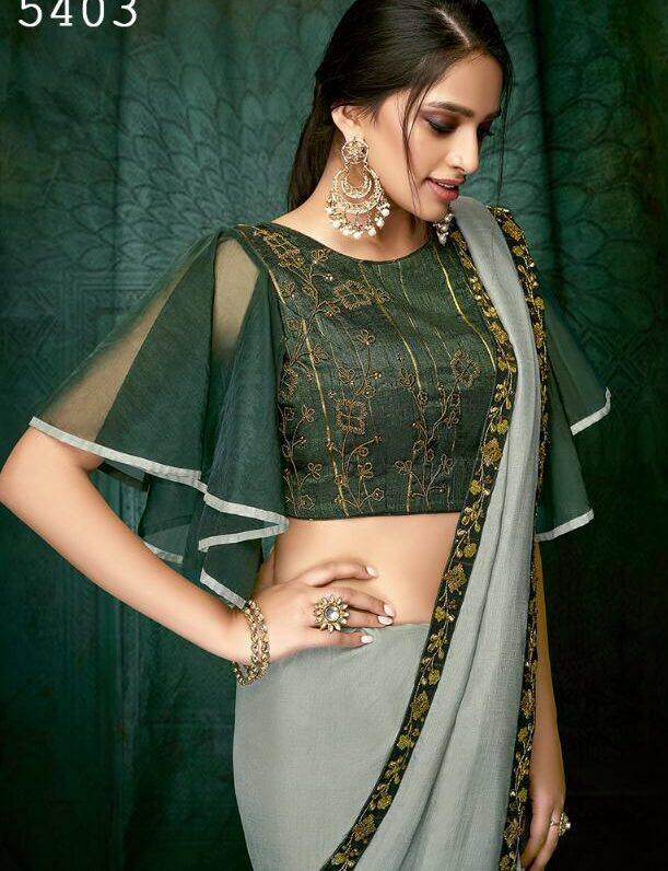 Designer Saree With Designer Blouse