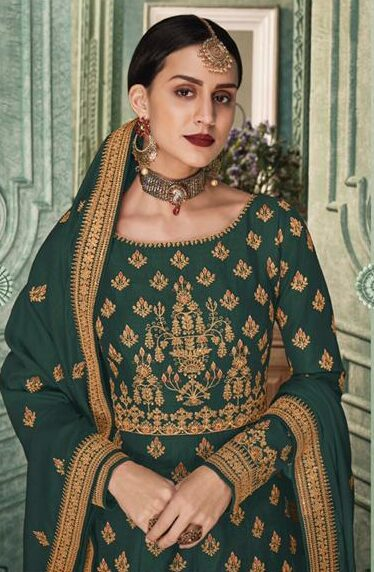 Full Embroidered Royal Gown Party Wear