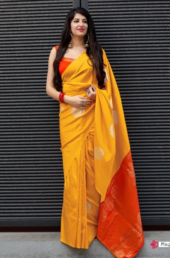 Haldi Function Designer Banarsi Saree