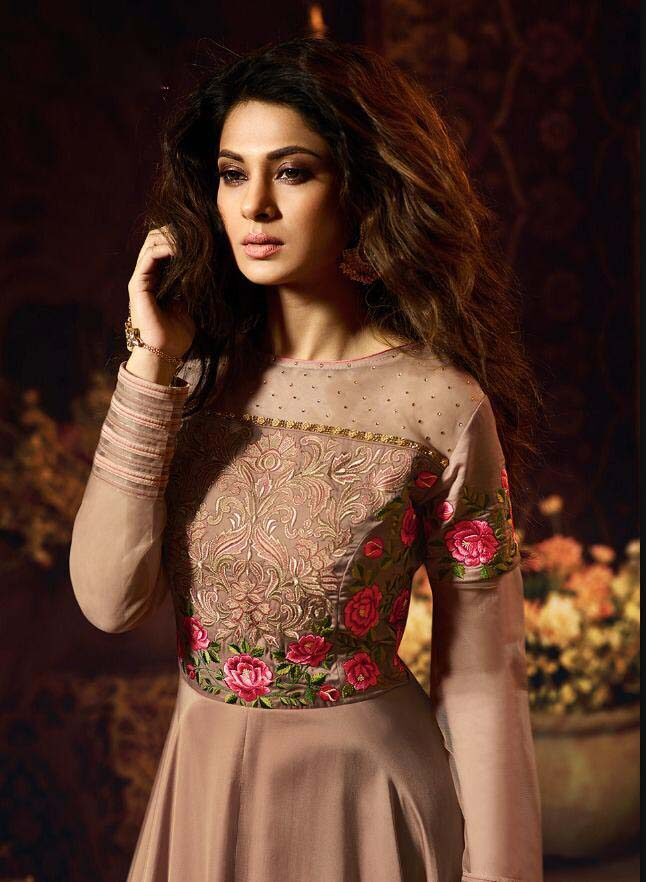 Jennifer Winget Dresses in Copper Colour Gown | new ...
