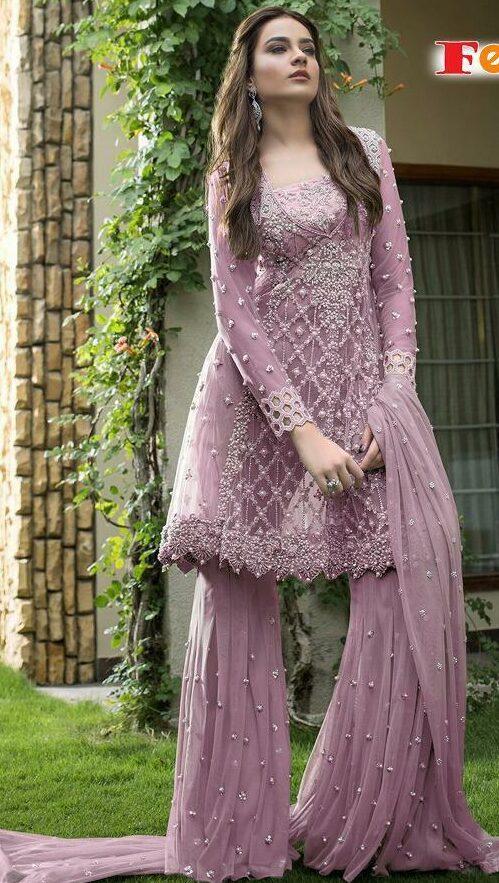 Light Purple Colour Suit Combination
