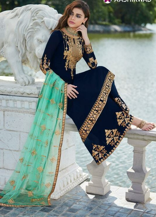 Royal Blue Salwar Suit Women's