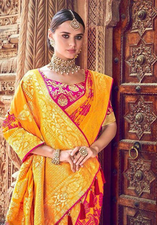 silk saree color combinations