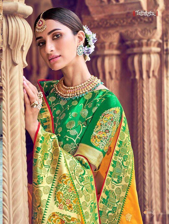 Tathastu Silk Saree Festive Wear with Digital Print Blouse
