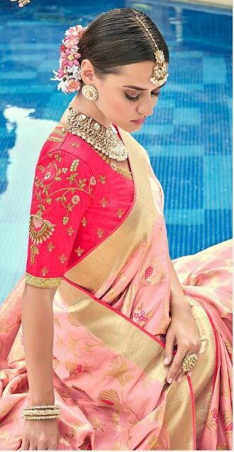 Blouse Designs for Silk Sarees Wedding