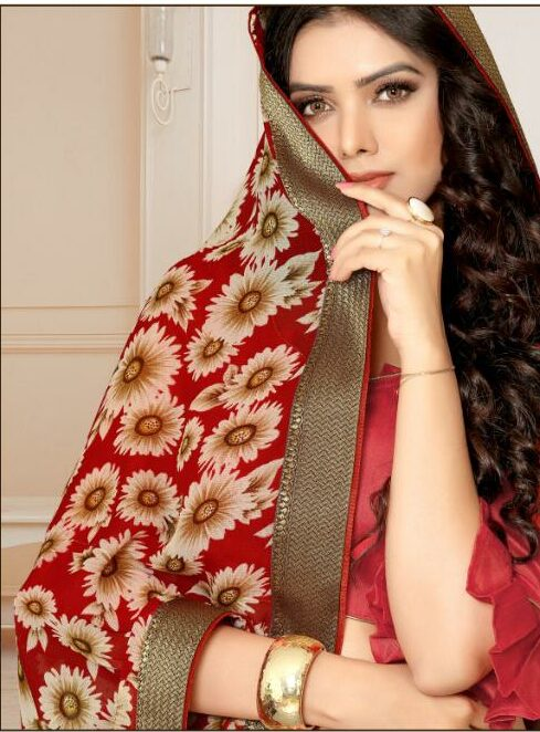 latest Trends Floral Saree