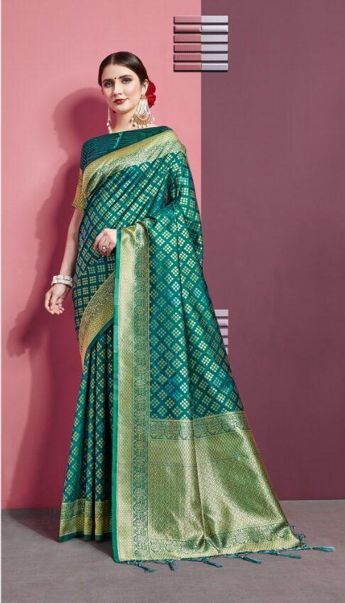 Dark Green Art Silk Silk Saree