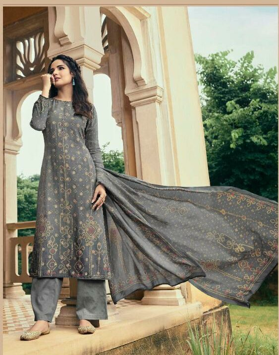 Embroidered Designer Grey Colour Suits