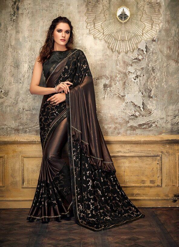 Latest Designer Party Wear Sarees 2019