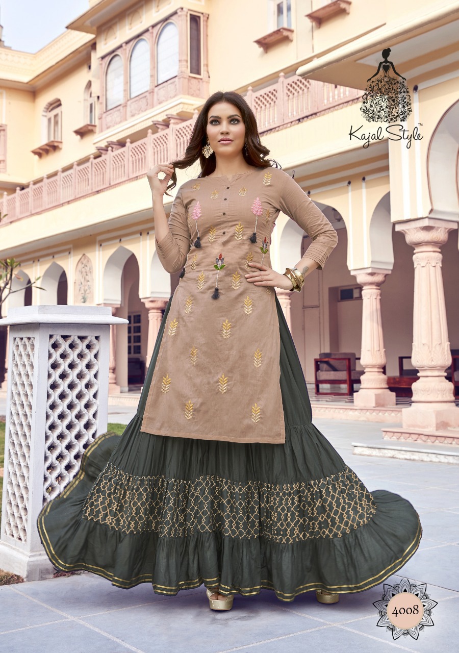 Kajal Style Desiner Kurti with Bottom