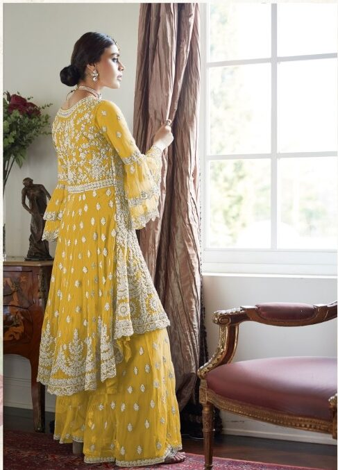 Haldi Ceremony Dress with Price in Sharara Style