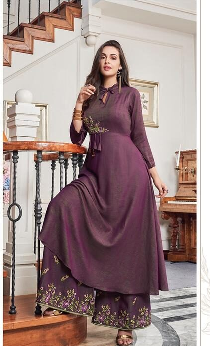New Designer Long Kurtis With Palazzo Pants