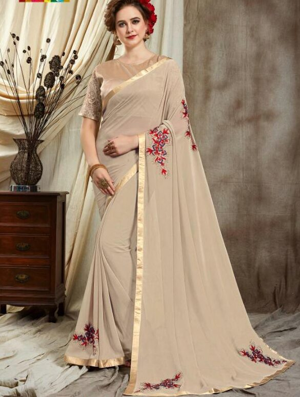 Designer Fancy Saree for Party Wear