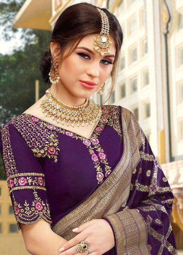 Latest Wedding Party Wear Set Saree with Blouse