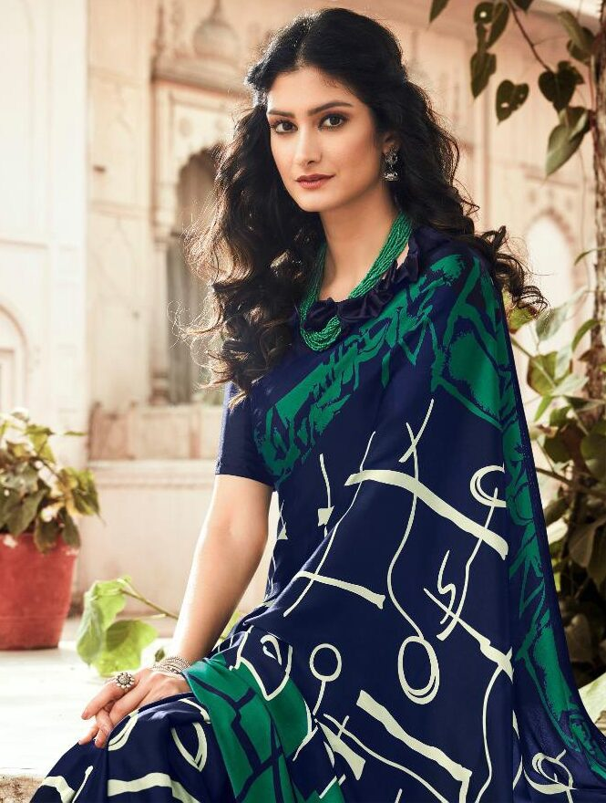 Digital Printed Silk Latest Saree Trends 2020