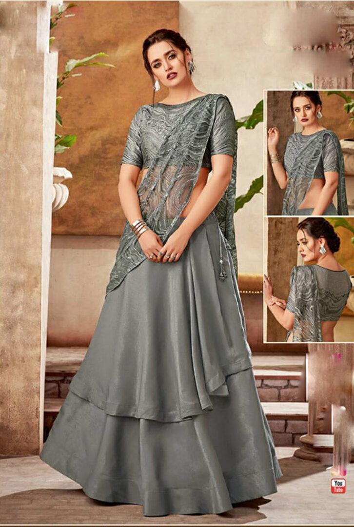 Indo Western Designer Ghagra Choli Wedding