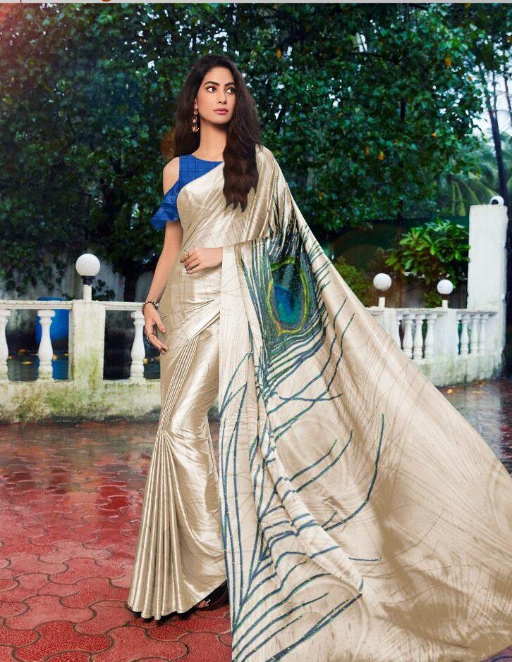 Morpankhi Designer Satin Silk Saree