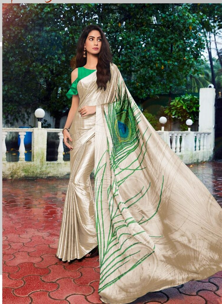 Morpankhi Style Pallu New Designer Saree with Contrast Blouse